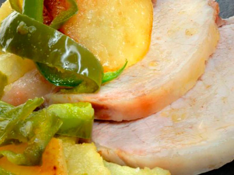 sal riera receta Lomo de Cerdo a la Sal con Panaderas